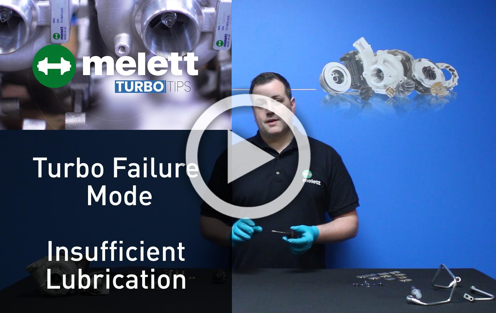 Turbo failure - insufficient lubrication